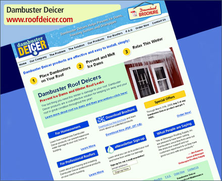 Dambuster Deicers - Innovative Roof Deicer Products