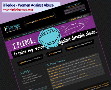 Women Against Violence - iPledge Website Launch