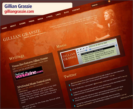 Gillian Grassie Website Relaunch