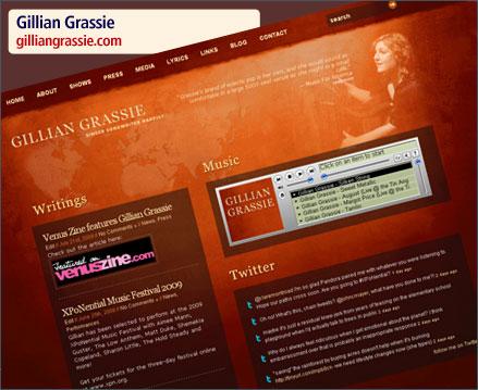 Gillian Grassie Website Relaunch