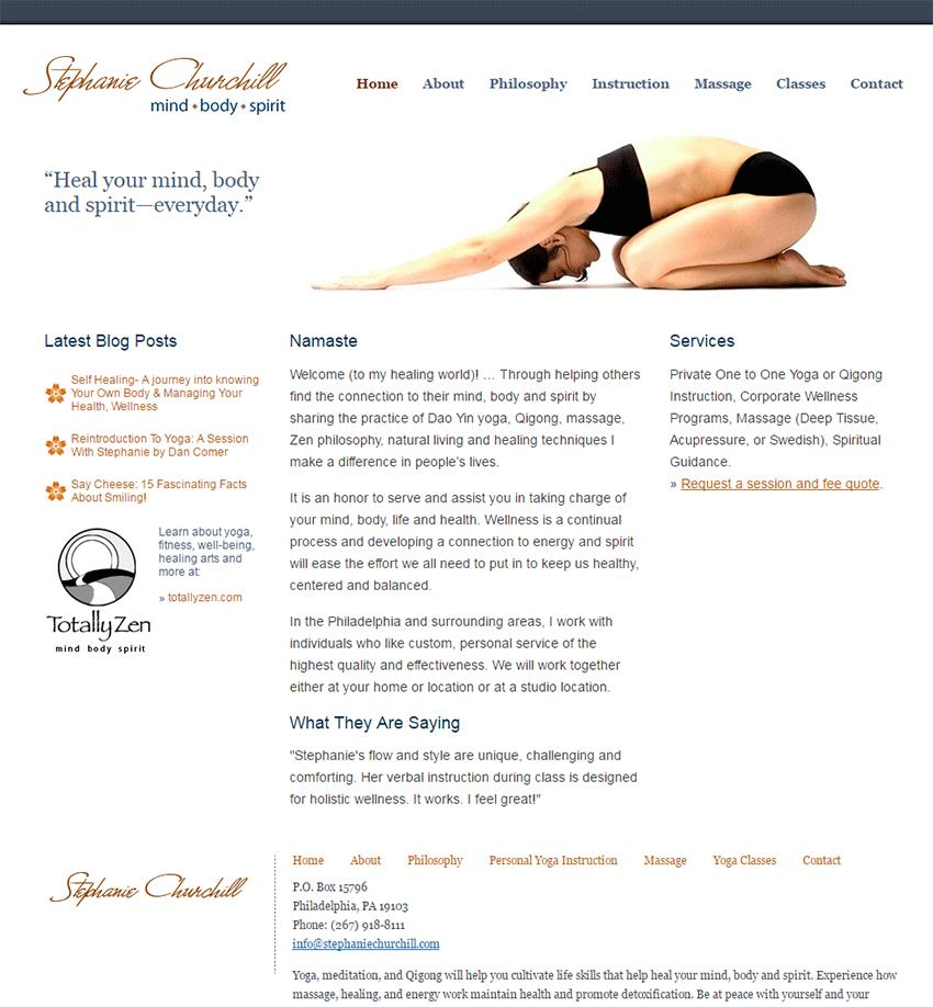 Stephanie Churchill Website Launch
