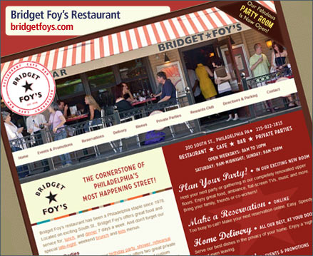 Bridget Foy's Restaurant Website Relaunch