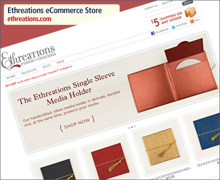 Ethreations eCommerce Store Launch