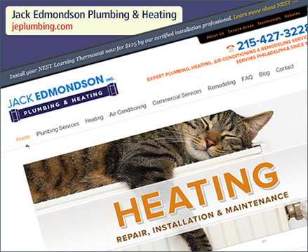 Jack Edmondson Plumbing & Heating Website Relaunch