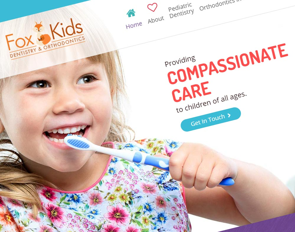 Fox Kids Dentistry - Dental Web Design