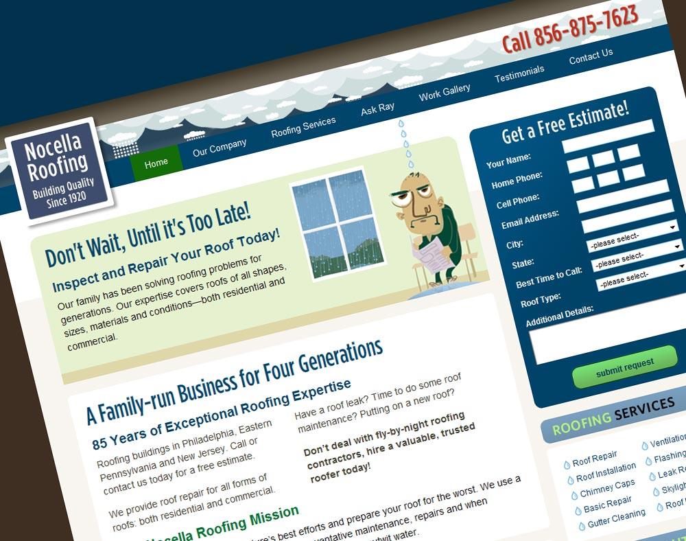 Nocella Roofing Web Design