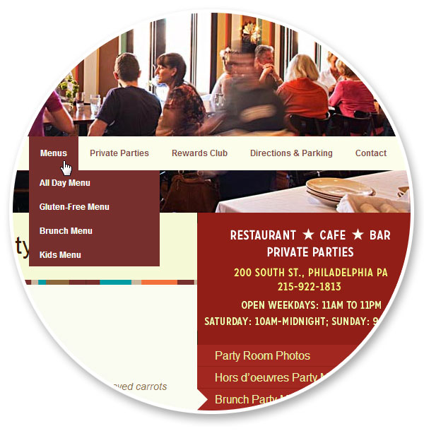 Bridget Foy's Restaurant Website Design