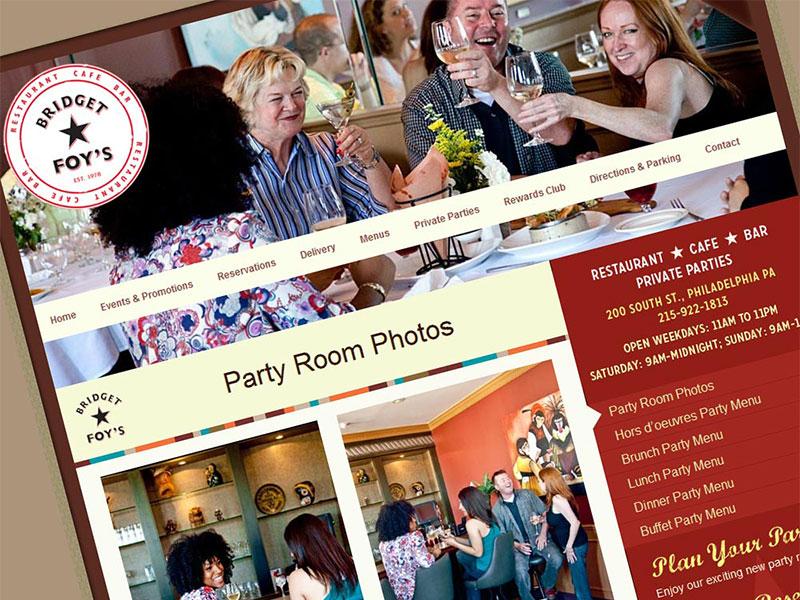Bridget Foy's Restaurant Web Design