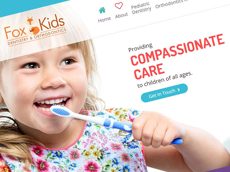 Fox Kids Dentistry Web Design