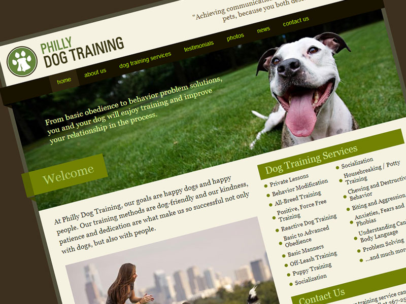 Philly Dog Training - Web Design