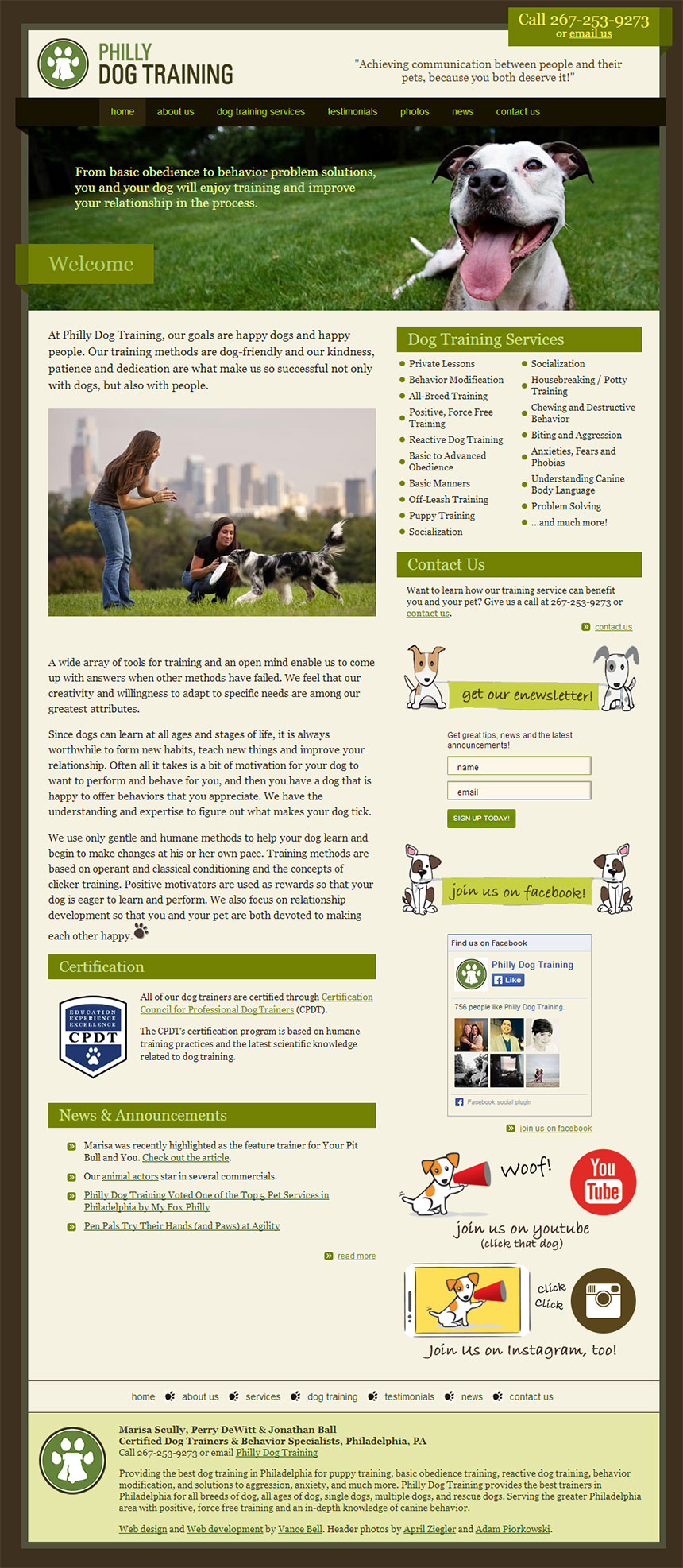 Philly Dog Training Web Design
