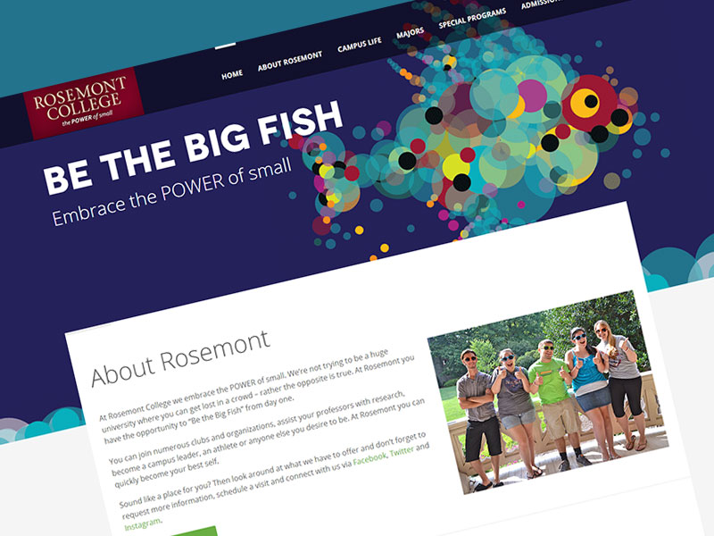 Rosemont College Web Design