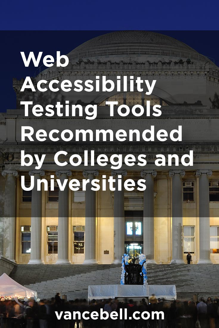 College Recommended Web Accessibility Tools for Students, Staff and Faculty