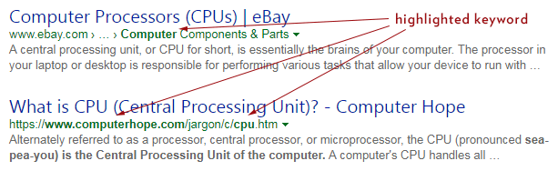 Meta Description Highlight Keywords Bing