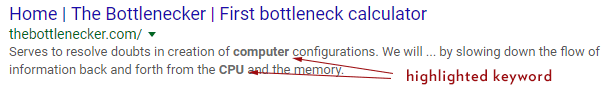Meta Description Highlight Keywords Google