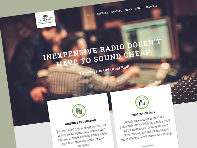 Lean Cuts Radio Website Design
