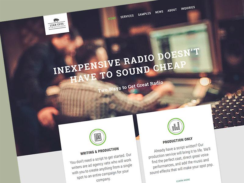 Lean Cuts Radio Website Design
