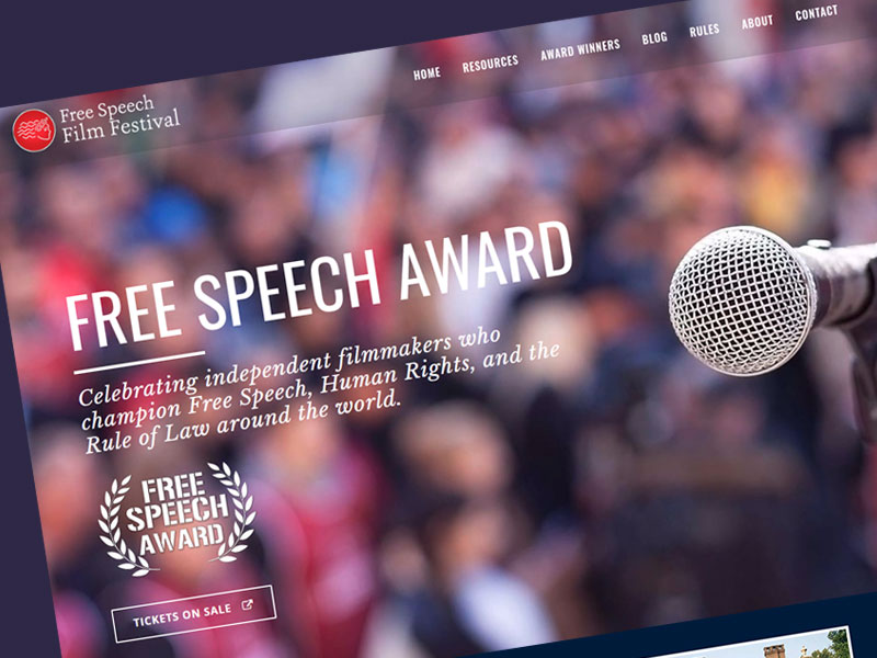 Web Design - Free Speech Film Festival