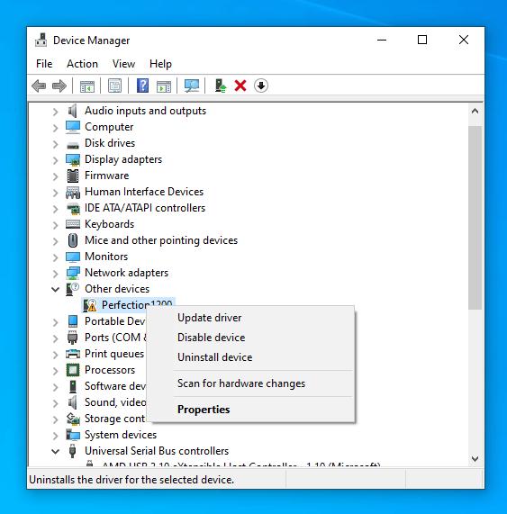Epson 1200 Driver Setup - Update Driver
